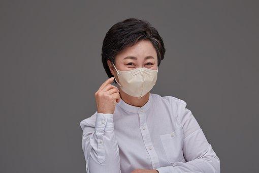 Woman, Face Mask, Korean, Smile, Protective Mask