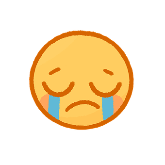 Sad, Emoji, Face, Crying, Emotions, Expression, Cartoon