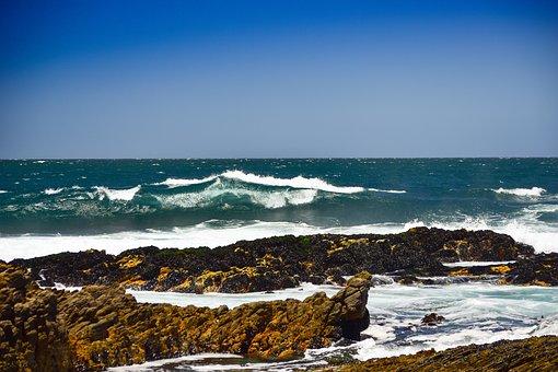 Ocean, Sea, Waves, Coast, Rocks, Water, Seascape