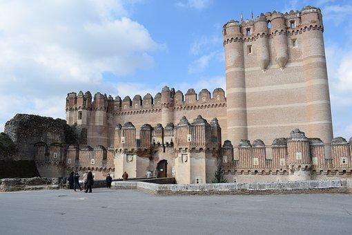 Castle, Coca, Segovia, Travel, Brick, Landscape