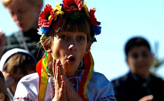 Girl, Holiday, Ukraine, Tape, Attire, Surprise