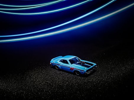 Model Car, Car, Lights, Toy Car, Toy Vehicle, Vehicle