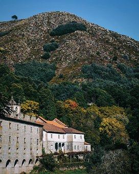 Church, Monastery, Trees, Mountain, Landscape, Nature