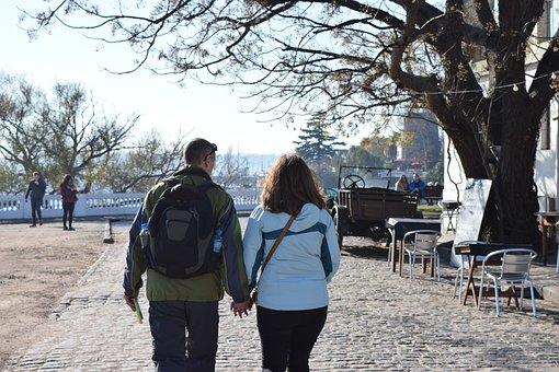 Couple, Cologne, Excursion, Uruguay, Visit, Tourism