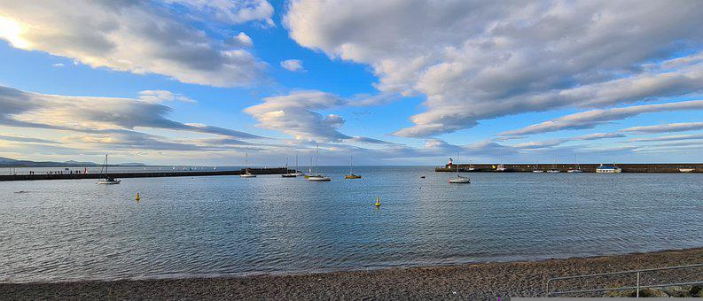 Wicklow, Sea, Water, Nature, Landscape, Calm