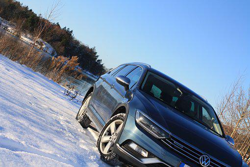 Volkswagen, Winter, Snow, Auto, Vehicle, Car, Vw, Water