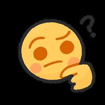Thinking, Emoji, Cartoon, Chat, Question, Icon, What