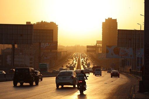 Cairo, Africa, Egypt, Street, Highway, Rd75, Landscape