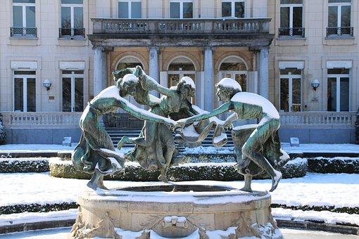 Image, Sculpture, Woman, Ladies, Girls, Art, Brass