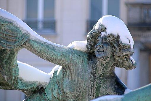 Image, Sculpture, Woman, Lady, Girl, Art, Brass