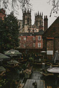 Rooftop, Cafe, York Minster, Buildings, City, Church