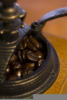 Coffee, Mill, Coffee Beans, Roasted, Brown, Cafe