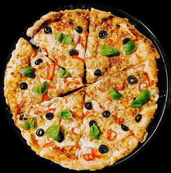 Pizza, Mozzarella, Cheese, Meal, Olives, Italian, Cook