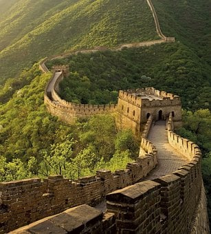 Wall Of China, China, Landscape, Mountain, Architecture