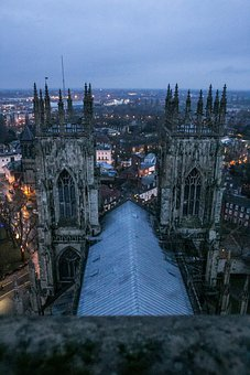 York Minster, Building, City, Towers, Church Towers