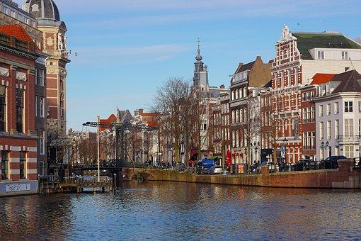 Canal, Bridge, City, Amsterdam