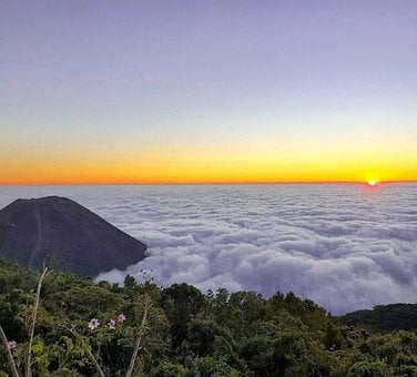 Clouds, Volcano, Mountain, Sky, Nature, Scenic, Cloud