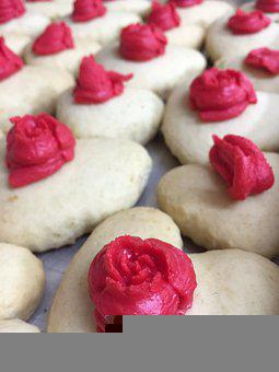 Cookies, Heart, Rose, Sugar, Valentine, Pink, Love