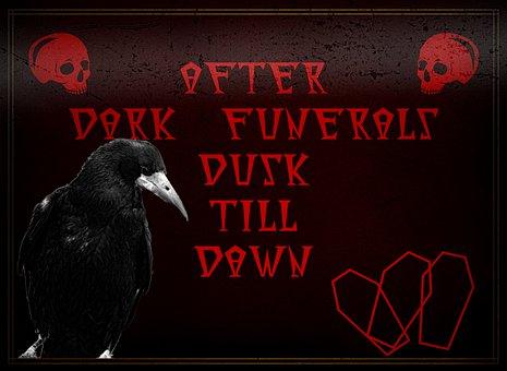 Funeral, Death, Sign, Dark, Corpse, Advert, Header