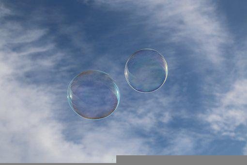 Soap Bubbles, Sky, Soap Bubble, Blow, Ease, Bubble