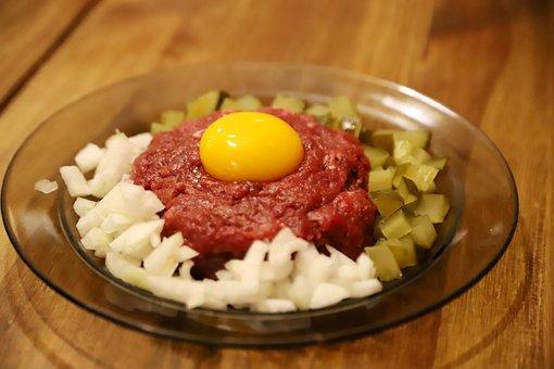 Tatar, Eating, Onion, Egg, Cucumber, The Yolk, Taste