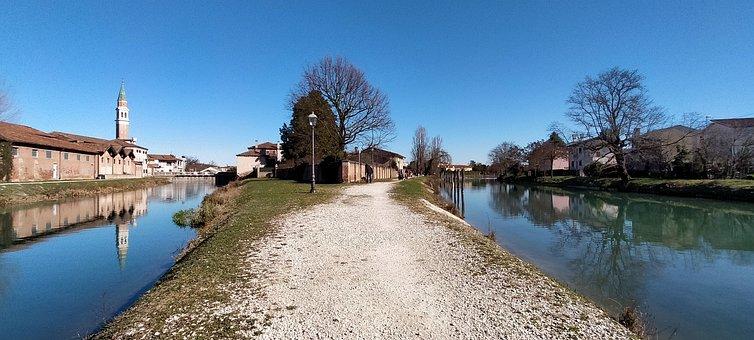 Brenta, Dolo, Italy, February, Winter, Freedom