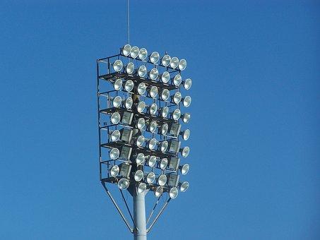 Lights, Lamps, Stadium, Sport, Football, Event