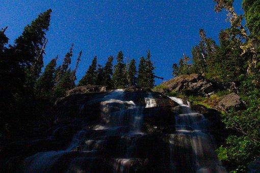 Waterfall, Stream, Forest, Falls, Trees, Rocks, Flow