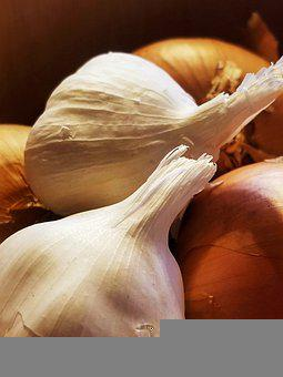 Garlic, Onions, Veggies, Roots, Vegetables, Cook, Plant