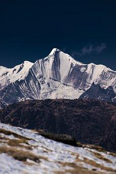 Uttrakhand, Snow, Himalayas, Peak, Landscape, India