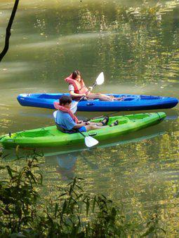 Kayak, River, Kayaking, Water, Sport, Paddle, Leisure
