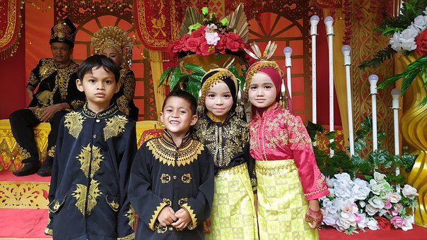 Kids, Traditional Clothing, Indonesian, Acehnese