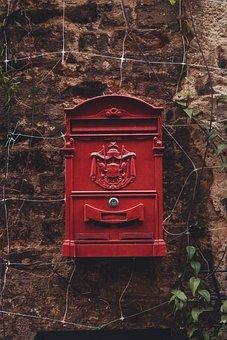 Mail, Mailbox, Lock, Building, Wall, Facade, River