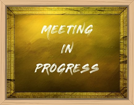 Business, Sign, Notice, Message, Board, Chalk, Meeting