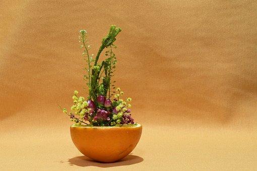 Mini Floral Centerpiece, Orange, Fruit, Fresh