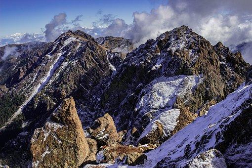 Mountains, Peak, Snow, Summit, Mountain Range