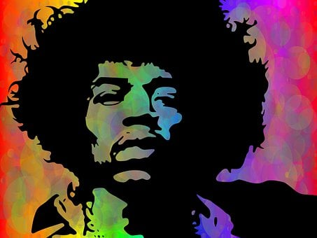 Musician, Guitarist, Jimi Hendrix, 1960s, Psychedelic