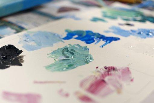 Acrylic, Paint, Acrylic Paint, Acrylic Color, Pallette