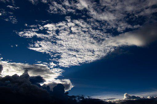 Clouds, Sunset, Sky, Landscape, Sun, Relaxation, Flight