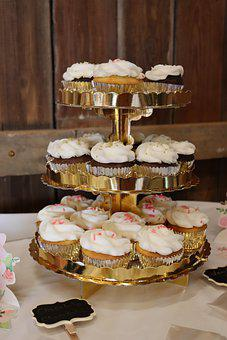 Cupcakes, Sweet, Dessert, Wedding Shower, Rustic, Barn