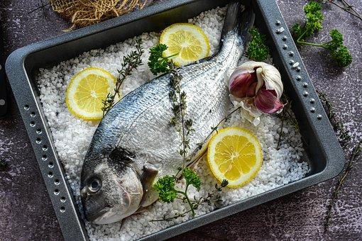 Fish, Lemon, Salt, Sea Bream, Fresh, Meal, Cook