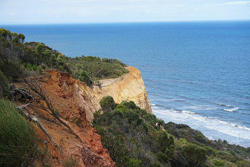 Ocean, Cliffs, Cliff, Sea, Beach, Coast, Nature, Water