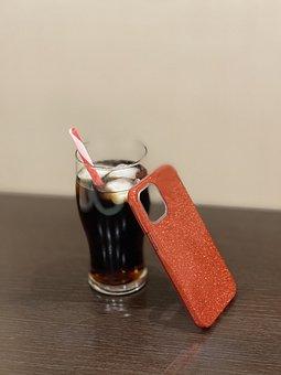 Glass, Soda, Phone Case, Coca Cola, Pepsi, Ice, Cold