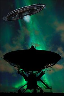 Satellite Dish, Ufo, Aliens, Spaceship, Spacecraft