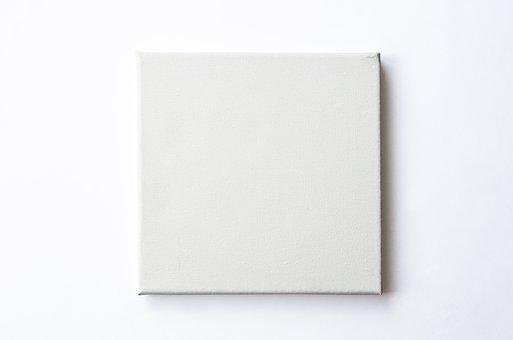 Canvas, Blank, Template, Square, Frame, Mockup, Gallery