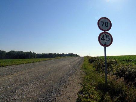 Road, Altai, Road Sign, Summer, Russia