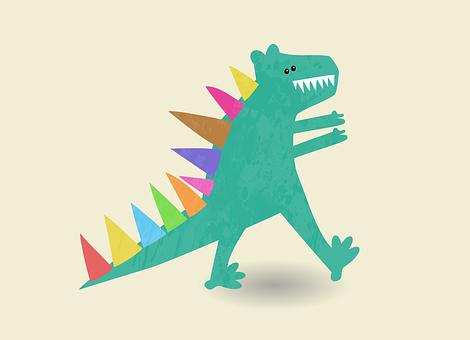 Dinosaur, Tyrannosaurus, Beast, Spikes, Reptile