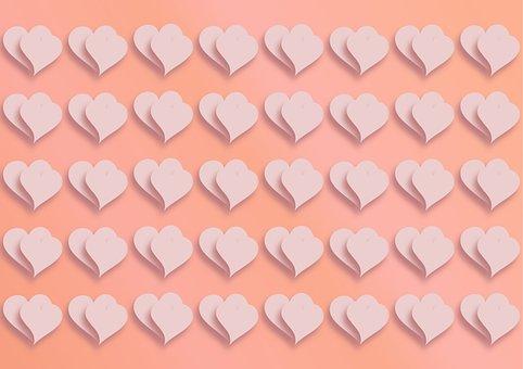 Hearts, Pattern, Wallpaper, Love, Valentine's Day