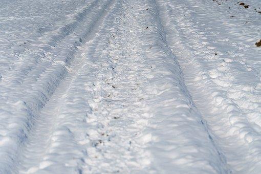 Tracks, Snow, White, Winter, Railway, Cold, Landscape