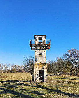 Watchtower, Abandoned, Tower, Army, Past, Historically